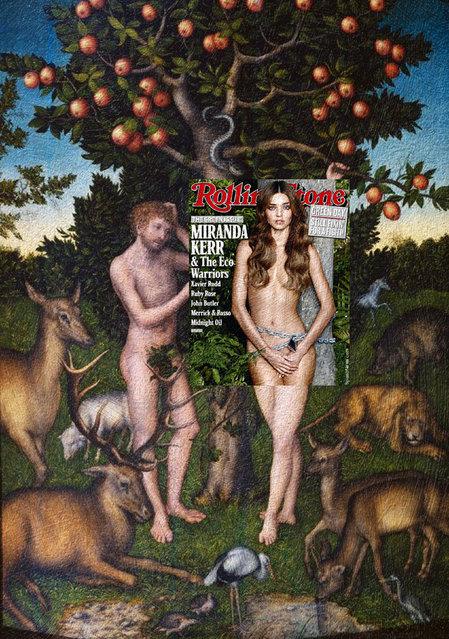 Quirky Magazine covers: Miranda and Eve. (Photo by Eisen Bernard Bernardo/Caters News)
