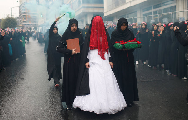 Shi'ite Muslim women attend an Ashura procession in Istanbul, Turkey, September 30, 2017. (Photo by Murad Sezer/Reuters)