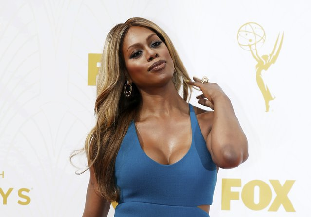 "Actress Laverne Cox from the series ""Orange is the New Black"" arrives at the 67th Primetime Emmy Awards in Los Angeles, California September 20, 2015. (Photo by Mario Anzuoni/Reuters)"