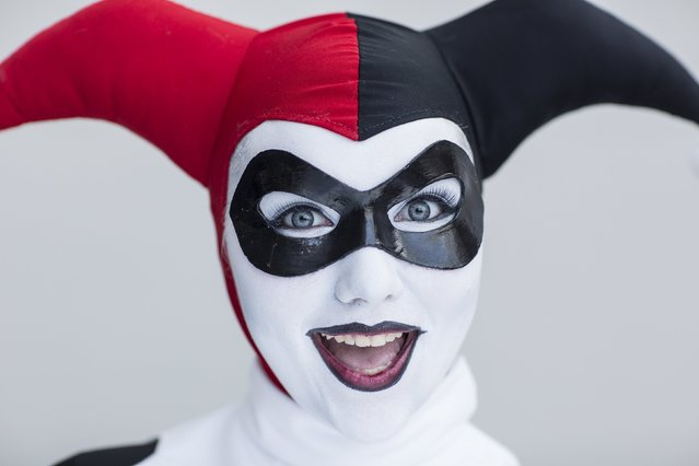 Danielle Pierson attends New York Comic Con dressed as Harley Quinn from DC Comic's Batman comics in Manhattan, New York, October 8, 2015. (Photo by Andrew Kelly/Reuters)