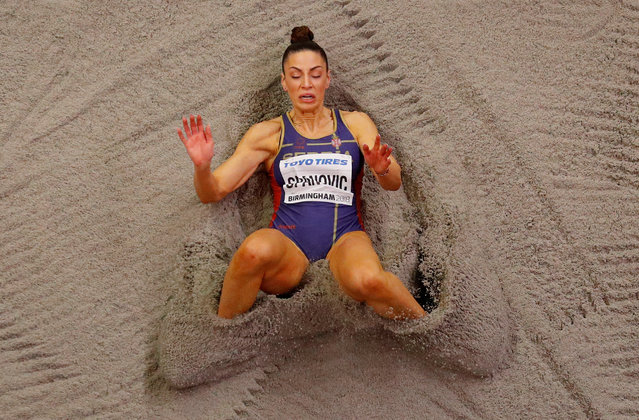 Serbia' s Ivana Spanovic competes in the women' s long jump final at the 2018 IAAF World Indoor Athletics Championships at the Arena in Birmingham on March 4, 2018. (Photo by Phil Noble/Reuters)