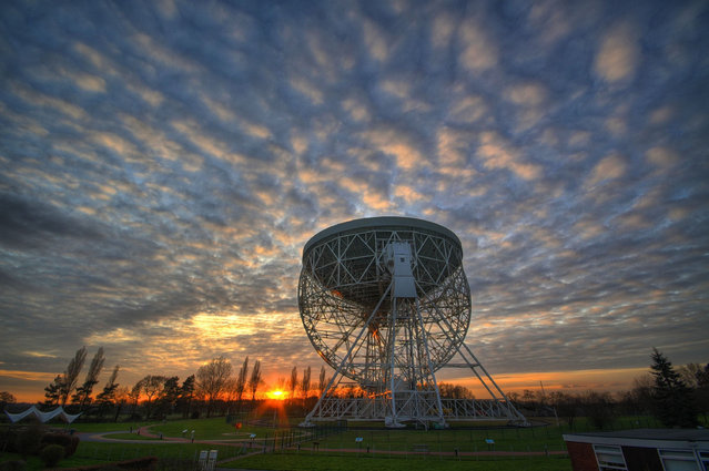 The Grade I-listed Lovell Telescope at Jodrell Bank, Manchester, England, has been named a Unesco World Heritage site in July 2019. It has been at the forefront of astronomical research since its inception in 1945 and tracked US and Russian craft during the space race. (Photo by Ant Holloway/PA Wire Press Association)