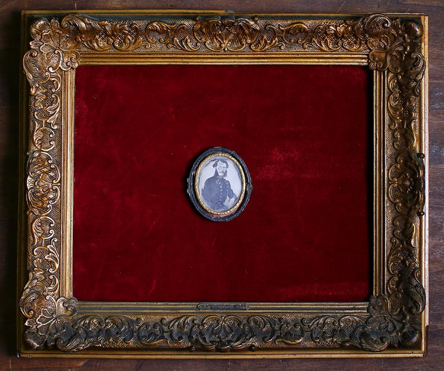 A daguerreotype dated 1830 is displayed in an old frame in the Museum of Domenico Agostinelli in Dragona, near Rome October 30, 2014. (Photo by Tony Gentile/Reuters)