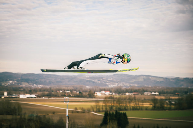 Nika Kriznar of Slovenia competes during the Women's HS 90 at the Viessmann FIS Ski Jumping World Cup Hinzenbach at on February 5, 2021 in Eferding, Austria. (Photo by Federico Modica/NordicFocus/Getty Images)
