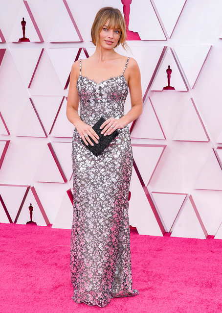Margot Robbie attends the 93rd Annual Academy Awards at Union Station on April 25, 2021 in Los Angeles, California. (Photo by Chris Pizzello-Pool/Getty Images)