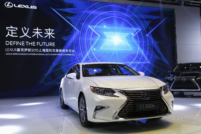 Lexus's ES 300h is seen during a presentation at the 16th Shanghai International Automobile Industry Exhibition in Shanghai, April 20, 2015. (Photo by Aly Song/Reuters)
