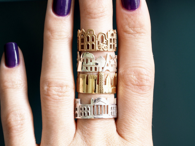 Architecture Rings By Ola Shekhtman