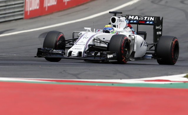 Williams driver Felipe Massa of Brazil, steers his car during the the Formula One Grand Prix race, at the Red Bull Ring in Spielberg, southern Austria, Sunday, June 21, 2015. (AP Photo/Darko Bandic)