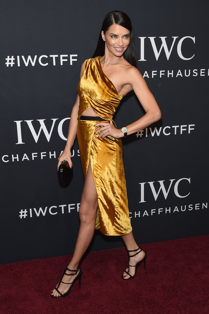 """Model Adriana Lima attends the exclusive gala event """"For the Love of Cinema"""" during the Tribeca Film Festival hosted by luxury watch manufacturer IWC Schaffhausen on April 20, 2017 in New York City. (Photo by Jamie McCarthy/Getty Images for IWC)"""