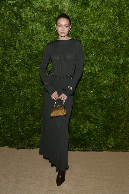 Gigi Hadid attends the CFDA / Vogue Fashion Fund 2019 Awards at Cipriani South Street on November 04, 2019 in New York City. (Photo by Jamie McCarthy/Getty Images)