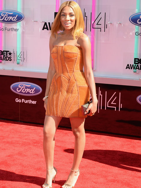 Singer Lil Mama attends the BET AWARDS '14 at Nokia Theatre L.A. LIVE on June 29, 2014 in Los Angeles, California. (Photo by Earl Gibson III/Getty Images for BET)