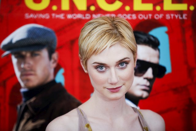 "Actress Elizabeth Debicki attends the premiere of ""The Man From U.N.C.L.E."" at Ziegfeld Theater in New York August 10, 2015. (Photo by Eduardo Munoz/Reuters)"