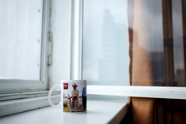 A mug with a picture of Russian President Vladimir Putin is seen in this photo illustration taken in a hotel room in Kazan, Russia, July 31, 2015. (Photo by Stefan Wermuth/Reuters)