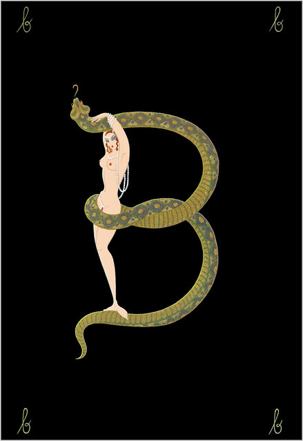 Romain de Tirtoff (Erte) – The Alphabet: Letter «B»