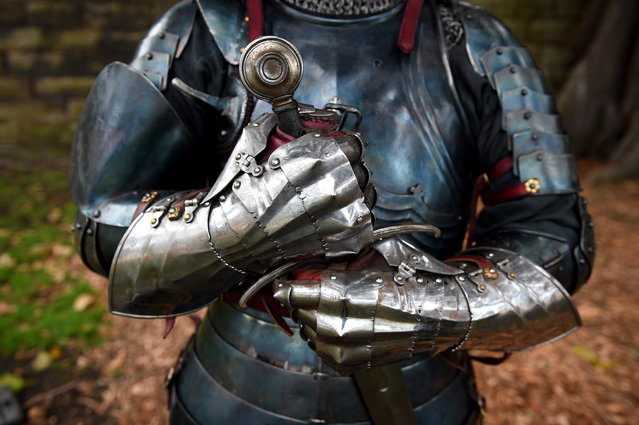 World medieval jousting champion Rod Walker poses before next month's St Ives Medieval Faire, the only solid wood lance joust tournament in the southern hemisphere in Sydney, Australia on August 26, 2016. (Photo by Dan Himbrechts/AAP)