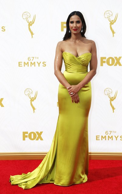 TV host Padma Lakshmi arrives at the 67th Primetime Emmy Awards in Los Angeles, California September 20, 2015. (Photo by Mario Anzuoni/Reuters)