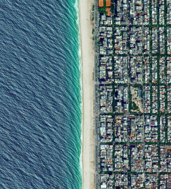 """Ipanema Beach is located in the South Zone of Rio de Janeiro, Brazil. Recognised as one of the most beautiful beaches in the world, the sand is divided into segments by lifeguard towers known as """"postos"""". (Photo by Benjamin Grant/Penguin Random House)"""