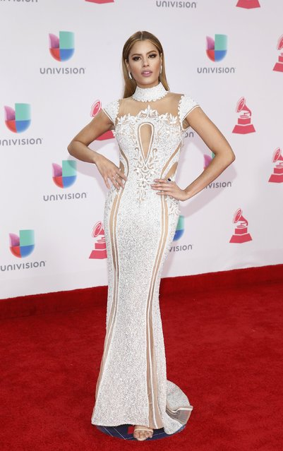 Former Miss Colombia Ariadna Gutierrez arrives at the 17th Annual Latin Grammy Awards in Las Vegas, Nevada, U.S., November 17, 2016. (Photo by Steve Marcus/Reuters)