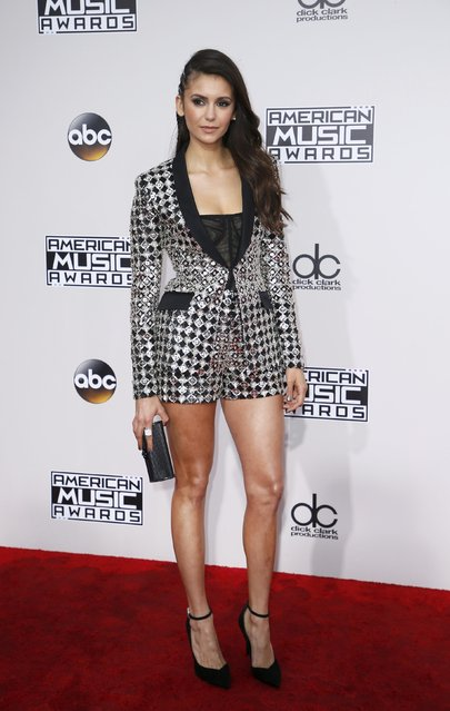 Actress Nina Dobrev arrives at the 2016 American Music Awards in Los Angeles, California, U.S., November 20, 2016. (Photo by Danny Moloshok/Reuters)