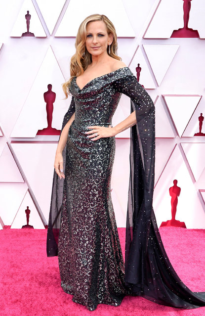Marlee Matlin attends the 93rd Annual Academy Awards at Union Station on April 25, 2021 in Los Angeles, California. (Photo by Chris Pizzelo-Pool/Getty Images)