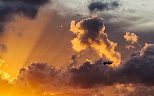 """Zeppelin Rays"". Miami, 2013. (Photo by lostINmia)"