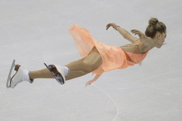 Elena Radionova of Russia performs during the ladies short program at the ISU European Figure Skating Championship in Bratislava, Slovakia, January 27, 2016. (Photo by David W. Cerny/Reuters)