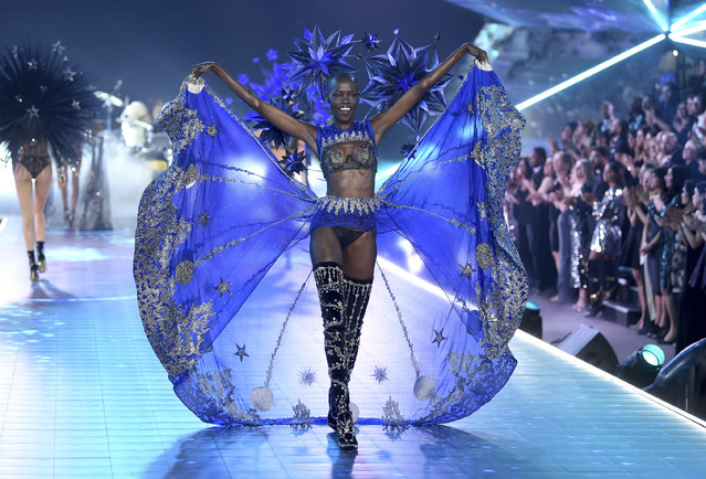 Grace Bol walks the runway during the 2018 Victoria's Secret Fashion Show at Pier 94 on Thursday, November 8, 2018, in New York. (Photo by Evan Agostini/Invision/AP Photo)