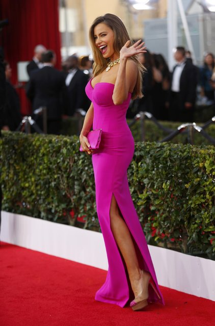 Actress Sofia Vergara arrives at the 22nd Screen Actors Guild Awards in Los Angeles, California January 30, 2016. (Photo by Mike Blake/Reuters)