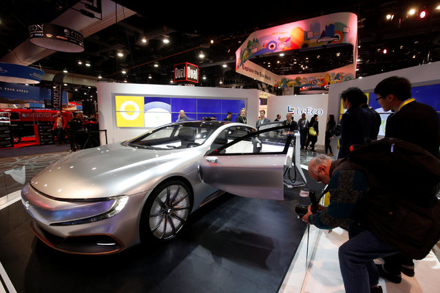 The LeSee Pro electric concept vehicle by LeEco is displayed during the 2017 CES in Las Vegas, Nevada January 5, 2017. (Photo by Steve Marcus/Reuters)