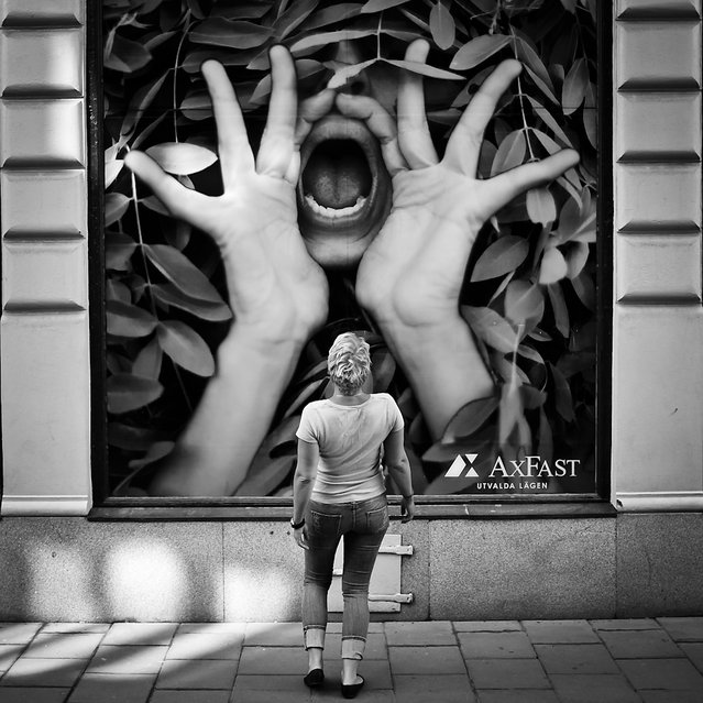 """Shout..."" Stockholm, Sweden, 2013. (Photo by Peter Levi)"