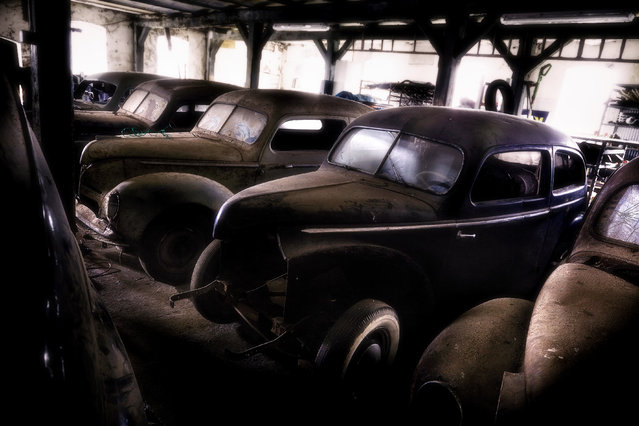 A Ford Taunus, sold between 1939 to 1949 looks worse for wear, on February 15, 2015, in Germany. (Photo by Dieter Klein/Barcroft Media)