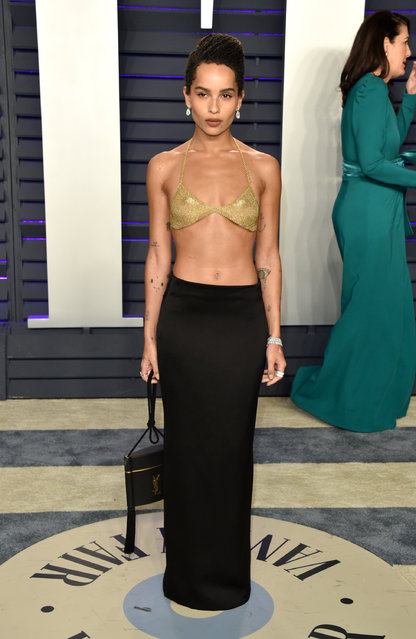 Zoe Kravitz attends the 2019 Vanity Fair Oscar Party hosted by Radhika Jones at Wallis Annenberg Center for the Performing Arts on February 24, 2019 in Beverly Hills, California. (Photo by John Shearer/Getty Images)