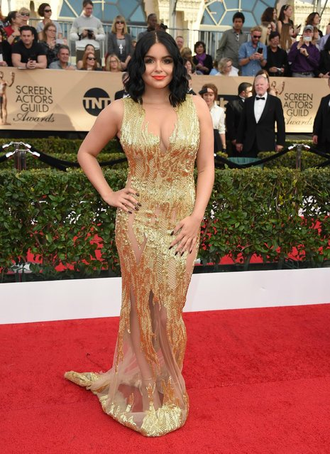 Ariel Winter arrives at the 23rd annual Screen Actors Guild Awards at the Shrine Auditorium & Expo Hall on Sunday, January 29, 2017, in Los Angeles. (Photo by Jordan Strauss/Invision/AP Photo)