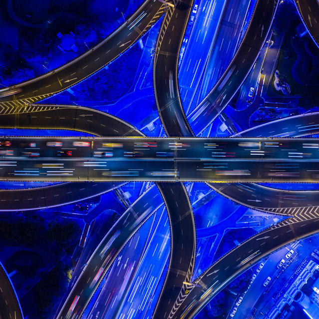 Oscar Tarneberg shot a famous highway intersection in Shanghai where two of the city's core arteries meet in China. (Photo by Oscar Tarneberg/Travel Photographer of the Year)