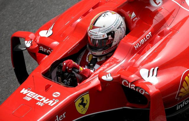 Ferrari Formula One driver Sebastian Vettel of Germany drives during the third free practice session at the Monaco F1 Grand Prix May 23, 2015. (Photo by Max Rossi/Reuters)