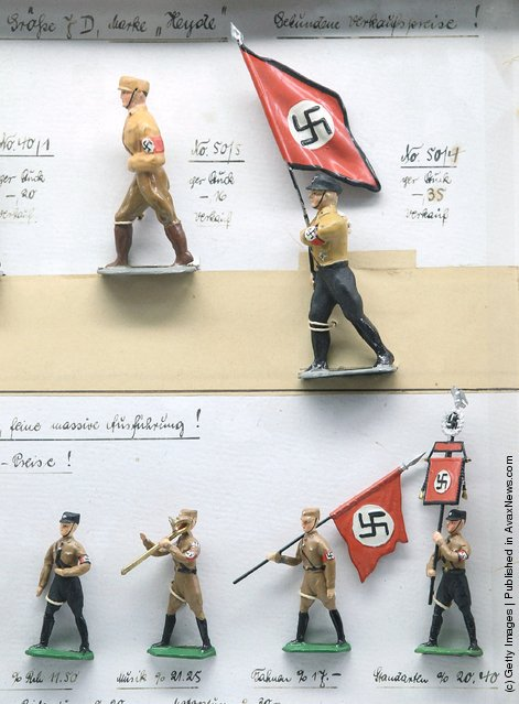 Toy soldiers in Nazi uniforms