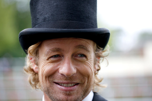 ASCOT, ENGLAND - JUNE 17:  Actor Simon Baker is seen on Day 1 during Royal Ascot 2015 at Ascot racecourse on June 17, 2015 in Ascot, England.  (Photo by Alan Crowhurst/Getty Images for Ascot Racecourse)