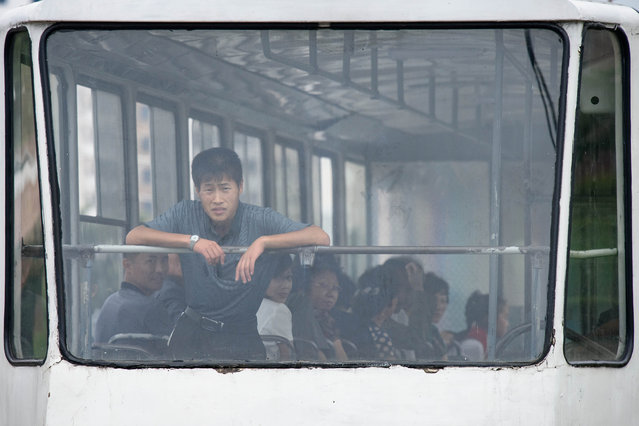 A commuter rides a tram in Pyongyang, North Korea on June 19, 2019. (Photo by Ed Jones/AFP Photo)
