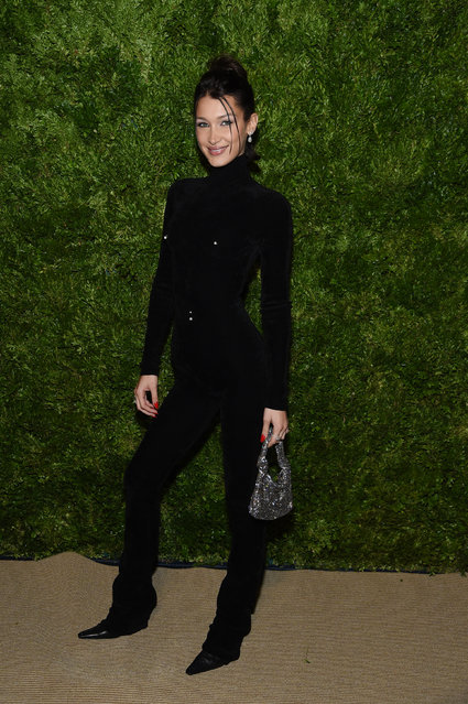 Bella Hadid attends the CFDA / Vogue Fashion Fund 2019 Awards at Cipriani South Street on November 04, 2019 in New York City. (Photo by Jamie McCarthy/Getty Images)