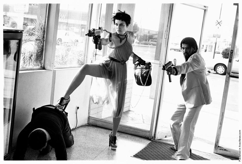 Photoshoot: Sharon Stone and Anton Rivas