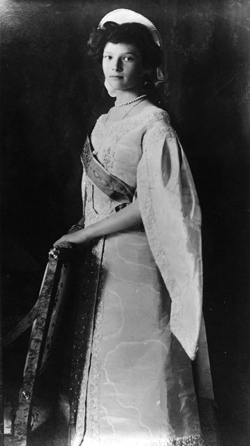 Grand Duchess Tatiana (1897–1918), one of the four daughters of Tsar Nicholas II and the Empress Alexandra, November 1911. She was shot with her whole family by the Red Guard in July 1918.