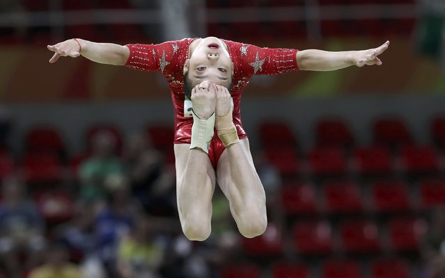2016 Rio Olympics, Artistic Gymnastics, Preliminary, Women's Qualification, Subdivisions, Rio Olympic Arena, Rio de Janeiro, Brazil on August 7, 2016. Wang Yan (CHN) of China competes during the women's qualifications. (Photo by Damir Sagolj/Reuters)