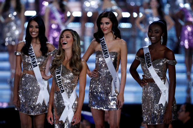 The first four finalists are selected during the 66th Miss Universe pageant at Planet Hollywood hotel-casino in Las Vegas on November 26, 2017. (Photo by Steve Marcus/Reuters)