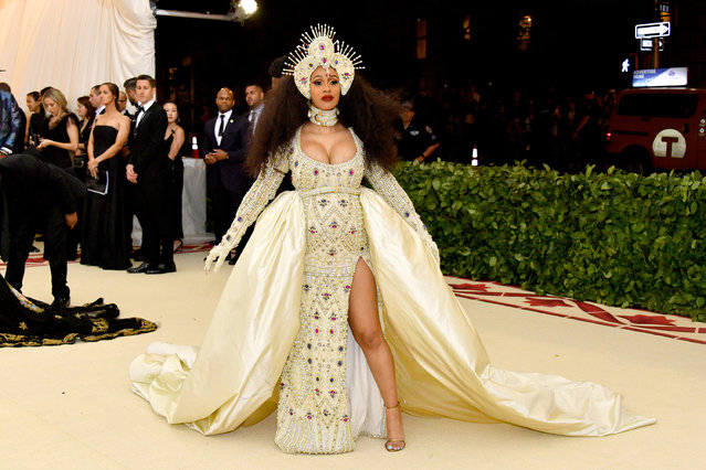 Cardi B attends the Heavenly Bodies: Fashion & The Catholic Imagination Costume Institute Gala at The Metropolitan Museum of Art on May 7, 2018 in New York City. (Photo by Dia Dipasupil/WireImage)
