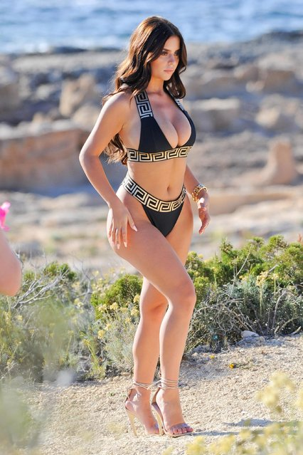 The social media star Demi Rose, 23, posed for a sizzling new photoshoot to promote her new swimwear line in Ibiza, Spain on Thursday, June 21, 2018. (Photo by KP Pictures)