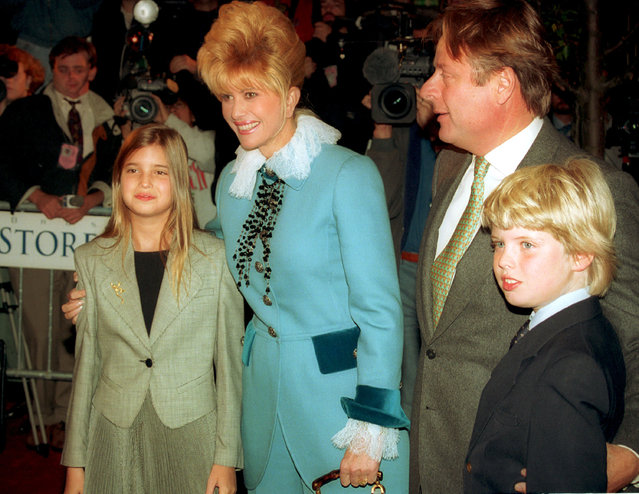 Ivana Trump, ex-wife of real estate developer Donald Trump, is shown with her children Ivanka, left, and Eric as Ricardo Mazuchelli looks on in October 1993. (Photo by AP Photo)