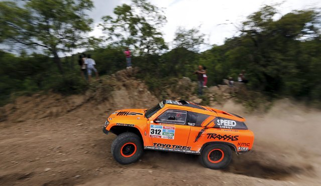 Robby Gordon of the U.S. drives his Gordini during the 12th stage of the Dakar Rally 2016 in Cordoba province, Argentina, January 15, 2016. (Photo by Marcos Brindicci/Reuters)
