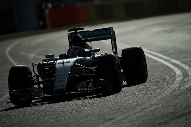 Mercedes Formula One driver Lewis Hamilton of Britain drives during the second practice session of the Australian F1 Grand Prix at the Albert Park circuit in Melbourne March 13, 2015. REUTERS/Jason Reed