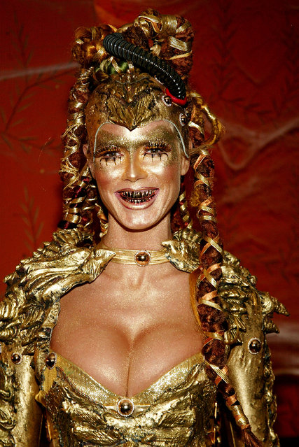 Model Heidi Klum attends Heidi Klum's Haunted Halloween Bash at LQ sponsored by CMA North America on October 31, 2003 in New York City. (Photo by Evan Agostini/Getty Images)