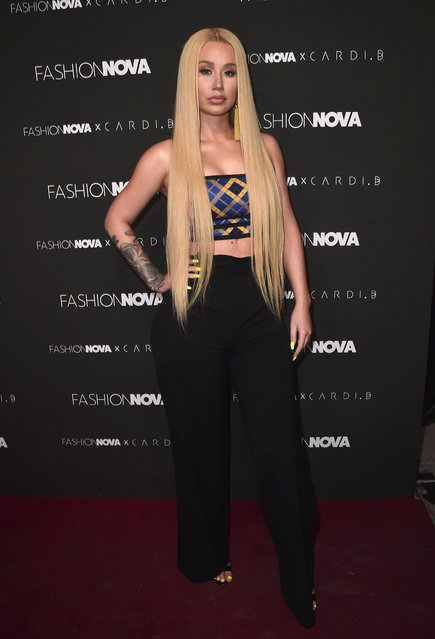 Iggy Azalea attends the Fashion Nova x Cardi B Collaboration Launch Event at Boulevard3 on November 14, 2018 in Hollywood, California. (Photo by Alberto E. Rodriguez/Getty Images)
